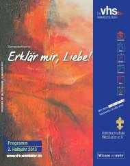 Programmheft, PDF, 12 MB - Volkshochschule Wiesbaden