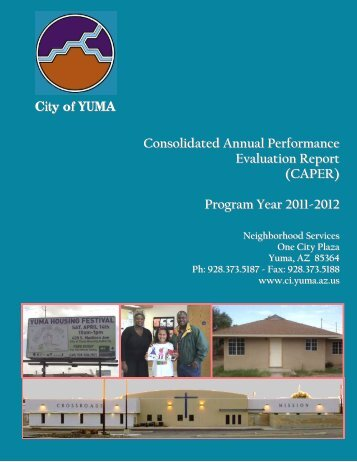 Consolidated Annual Performance Evaluation Report - City of Yuma ...