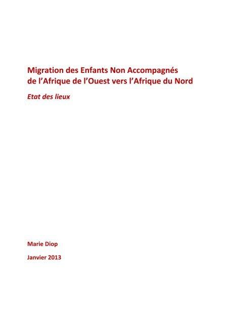 Mobilités et Migration des Mineurs Non Accompagnés de l ... - PICUM