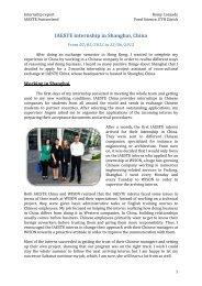 IAESTE internship in Shanghai, China - IAESTE Switzerland