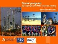 Social program - PRCI