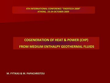 from medium enthalpy geothermal fluids