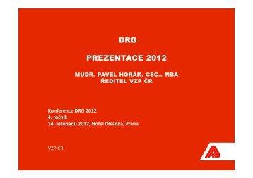 DRG PREZENTACE 2012