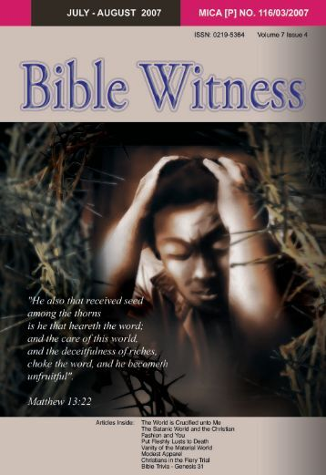 The World Is Crucified Unto Me - Bible Witness Media Ministry