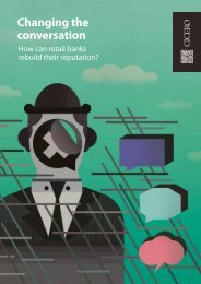 Changing the conversation – How can retail banks - Cicero Group