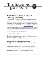 Will It Transform Teaching & Learning - Brown University