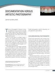 documentation versus artistic photography - Cosmetic Dentist Lake ...