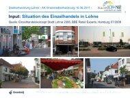 Einzelhandelsgutachten für die Stadt Lohne von 2008 - Zukunft Lohne