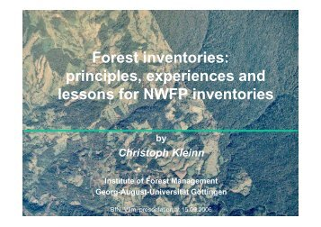 Forest inventories: principles, experiences and lessons ... - FloraWeb