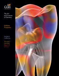 The Art and Science of Dentistry Exhibitor Prospectus - CDA Presents