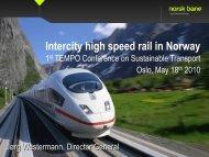 Intercity high speed rail in Norway