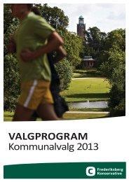 VALGPROGRAM Kommunalvalg 2013