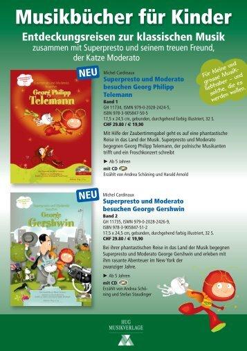 Musikbücher für Kinder - bei Hug Musikverlage