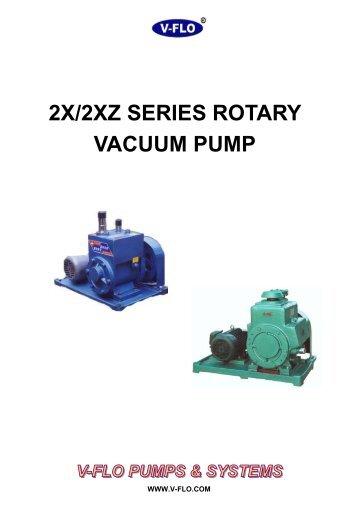 2X 2XZ Rotary Vacuum Pump - V-FLO