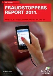 home insurance fraudstoppers report 2011. - Legal & General