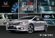 Let YouR IntuItIon Take OveR - Honda Malaysia