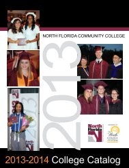 NFCC 2013-2014 College Catalog - North Florida Community College