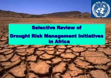 Selective Review of Drought Risk Management Initiatives in Africa