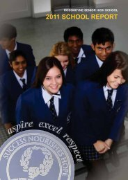 2011 Rossmoyne Senior High School Report final web