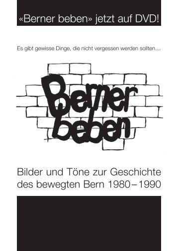 «Berner beben» jetzt auf DVD! - Reitschule