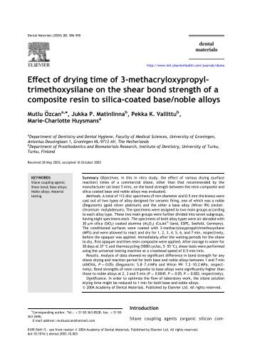 Effect of drying time of 3-methacryloxypropyl- trimethoxysilane on ...
