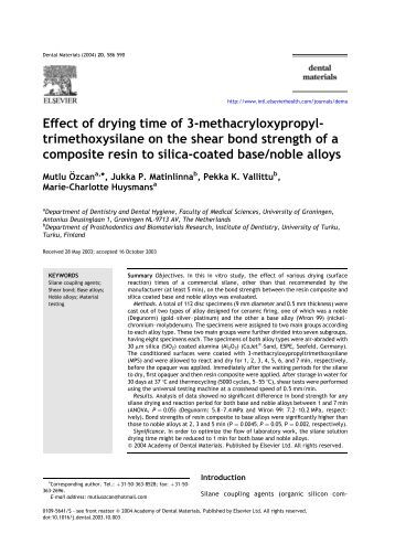Effect of drying time of 3-methacryloxypropyl- trimethoxysilane on ...