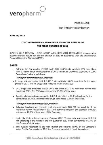 PRESS-RELEASE FOR IMMEDIATE DISTRIBUTION JUNE 26, 2012 ...