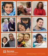 Annual Report - Access Community Health Centers