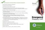 Emergency Supply List - Ready.gov