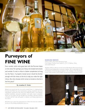 Art Showcase: Purveyors of Fine Wine (PDF) - Paesano