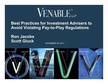 Best Practices for Investment Advisers to Avoid ... - Venable LLP