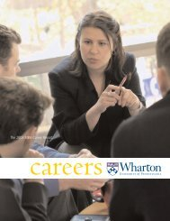 The 2003 MBA Career Report - Wharton MBA Career Management
