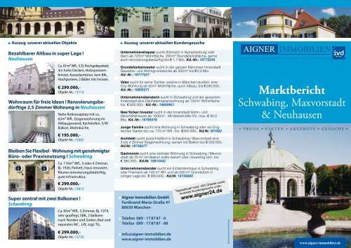 Marktbericht - Aigner Immobilien GmbH