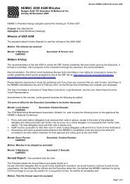 Minutes of the 2009 AGM - National Ethnic and Multicultural ...