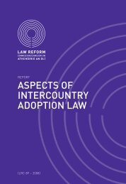 Report on Aspects of Intercountry Adoption - Law Reform Commission