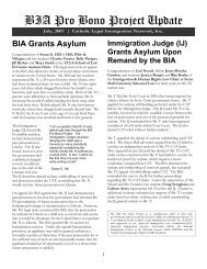 BIA Pro Bono Project Update - Catholic Legal Immigration Network ...