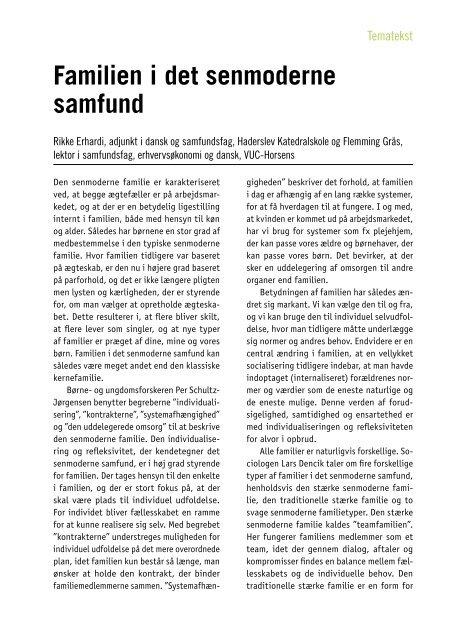 Familien i det senmoderne samfund - SamfNU - Systime