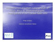 Reconstruction of bottom currents south of South Africa ... - Inkaba.org
