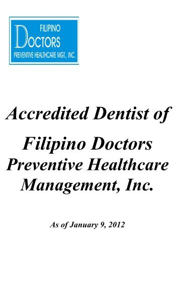 Accredited Dentist - The Filipino Healthcare