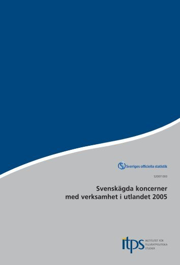 Svenskägda koncerner med verksamhet i utlandet 2005