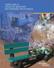 Guide sur la collecte sélective des matières recyclables