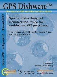 the embryo gps® dish - IVFOnline.com