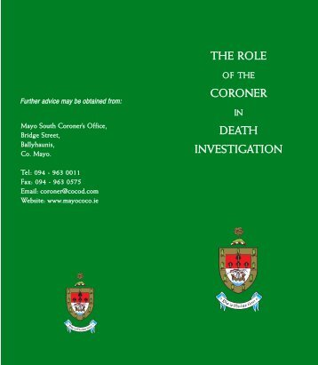 The Role of the Coroner in Death Investigation