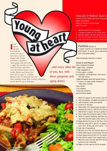 Young at Heart (pdf) - Vegetarian & Vegan Foundation