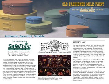 Authentic, Beautiful, Durable - The Old Fashioned Milk Paint Company