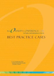 Best practice cases book - Quality Conference for Public ...