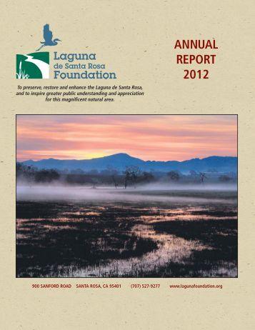 FY 2011-2012 Annual Report - Laguna de Santa Rosa Foundation