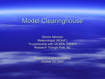 Model Clearinghouse