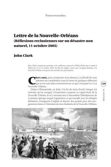 Lettre de la Nouvelle-Orléans