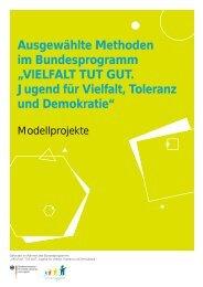 """Ausgewählte Methoden Im Bundesprogramm """"VIELFALT TUT GUT"""